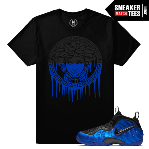 Cobalt Foamposite match T shirt Cobalt Foams