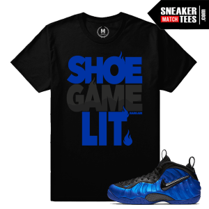 Cobalt Nike Foams Match t shirt