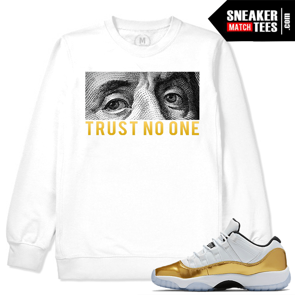 32031811cf4e6e Gold 11s Shirts to Match Jordans- Sneakermatchtees