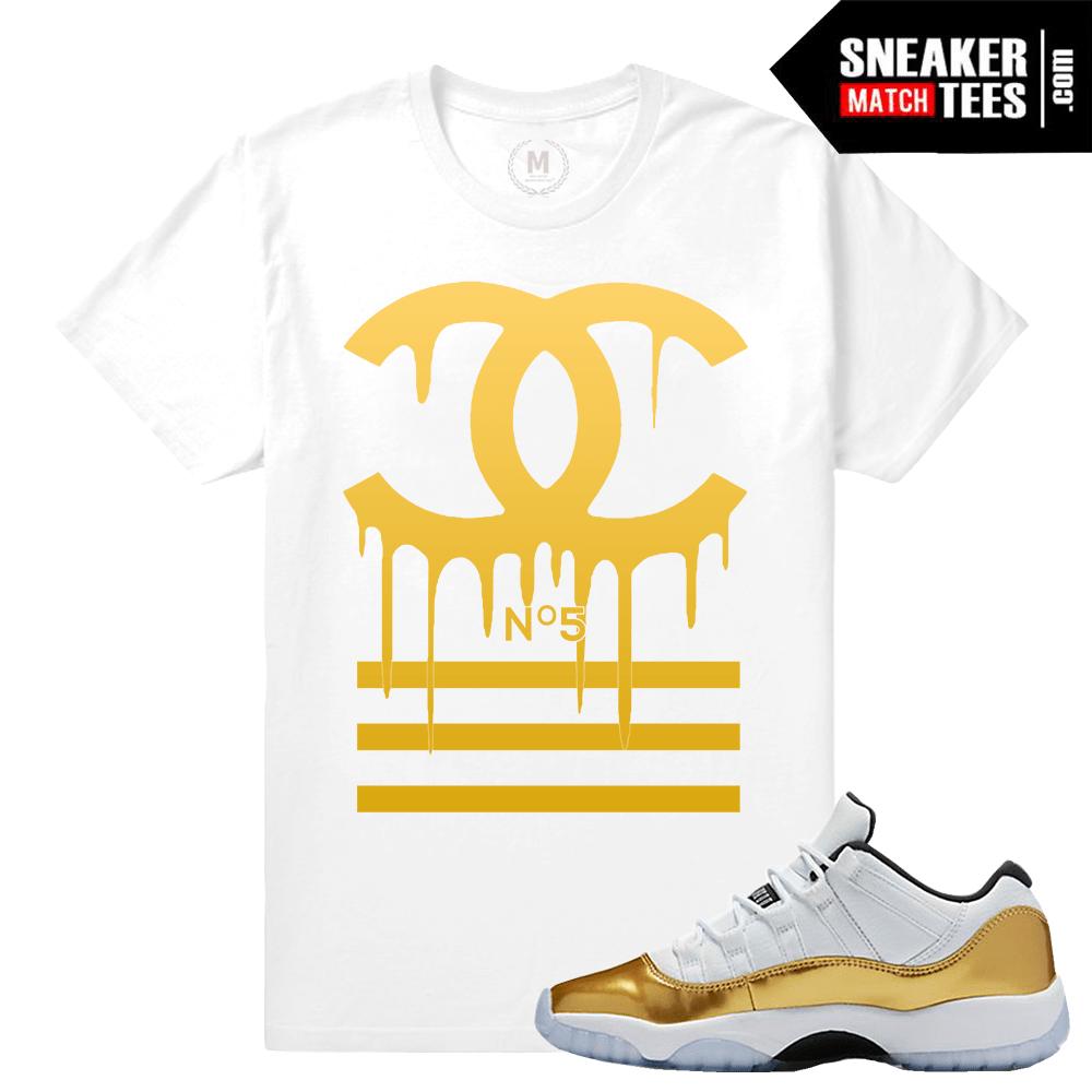 ce2d041c678287 Gold 11s Shirts to Match Jordans- Sneakermatchtees