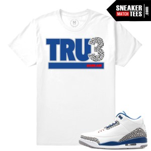 Jordan 3 True Blue Match T shirt