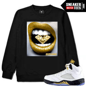 Jordan 5 Olympic Gold Medal Black Crewneck Match