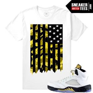Jordan 5 Olympic Sneaker tees matching
