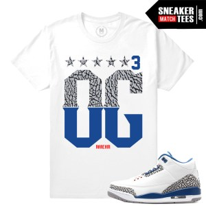 Match True Blue 3 Sneaker tees