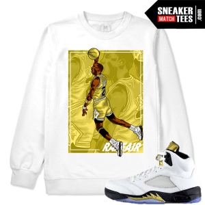 Olympic 5s White Gold Matching Crewneck Sweater