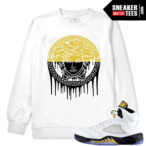 Olympic V Jordan Retros Match White Crewneck