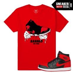 Shirts match Sneaker Jordan 1 Banned