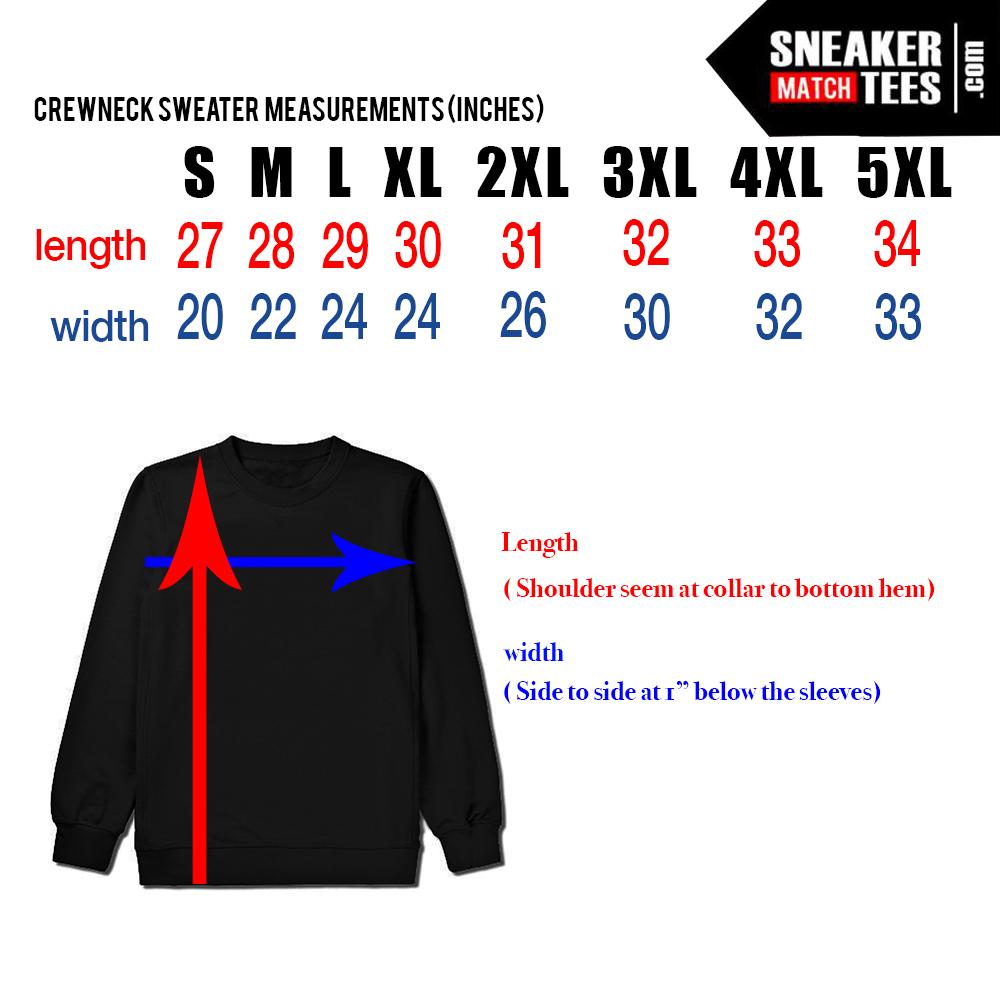 Streetwear T shirt Size Chart - Sneakermatchtees.com 44e60488e8