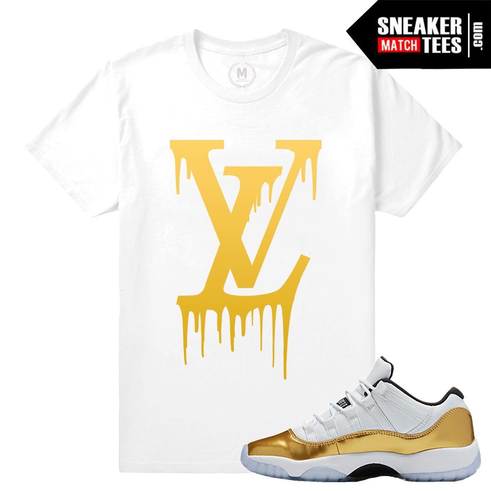 de742afca1272b Sneaker Shirts match Jordan 11 low Gold