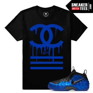 Sneaker shirts match Cobalt Foams