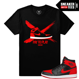 Sneaker shirts match Jordan Retro 1 Banned