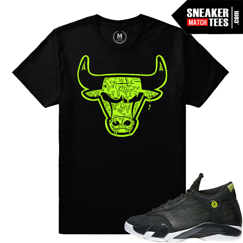 2a6d5772605db5 Sneaker tee match Indiglo 14 Retro Jodans