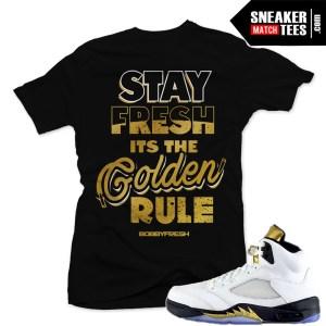 Sneaker tees Jordan Retro 5 Olympic match