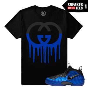 Sneaker tees match Cobalt Foamposite