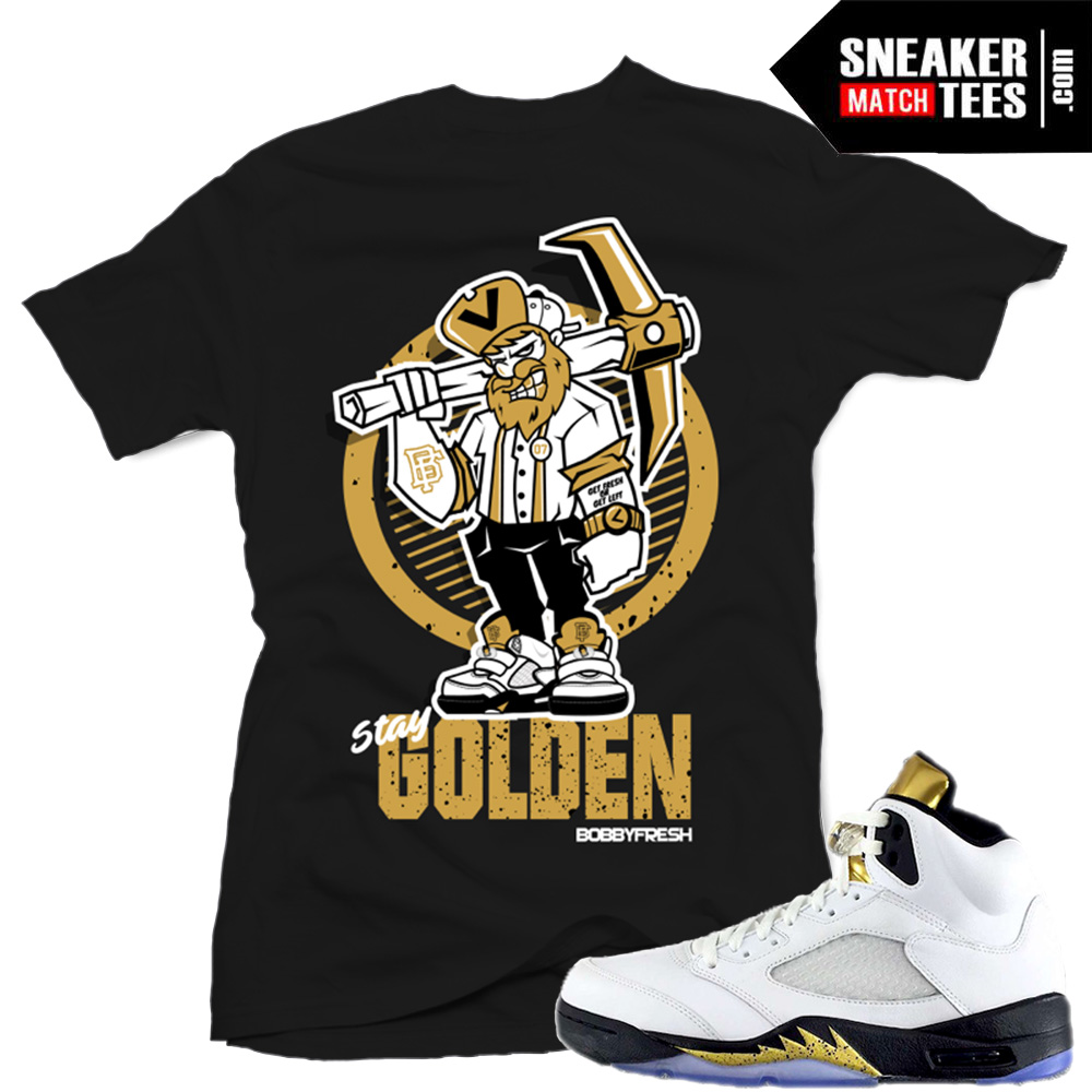 newest 1d7fb 8defe Sneaker tees match Jordan 5 Olympic Retros