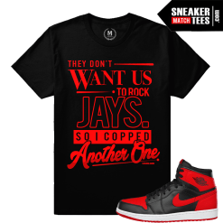 T shirt match Jordan 1 Bred Sneakers