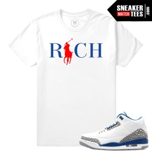 T shirt match True Blue 3s