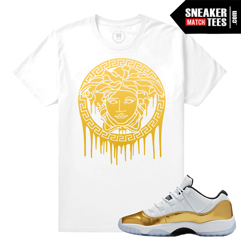 089baf490e75 Gold 11s Shirts to Match Jordans- Sneakermatchtees