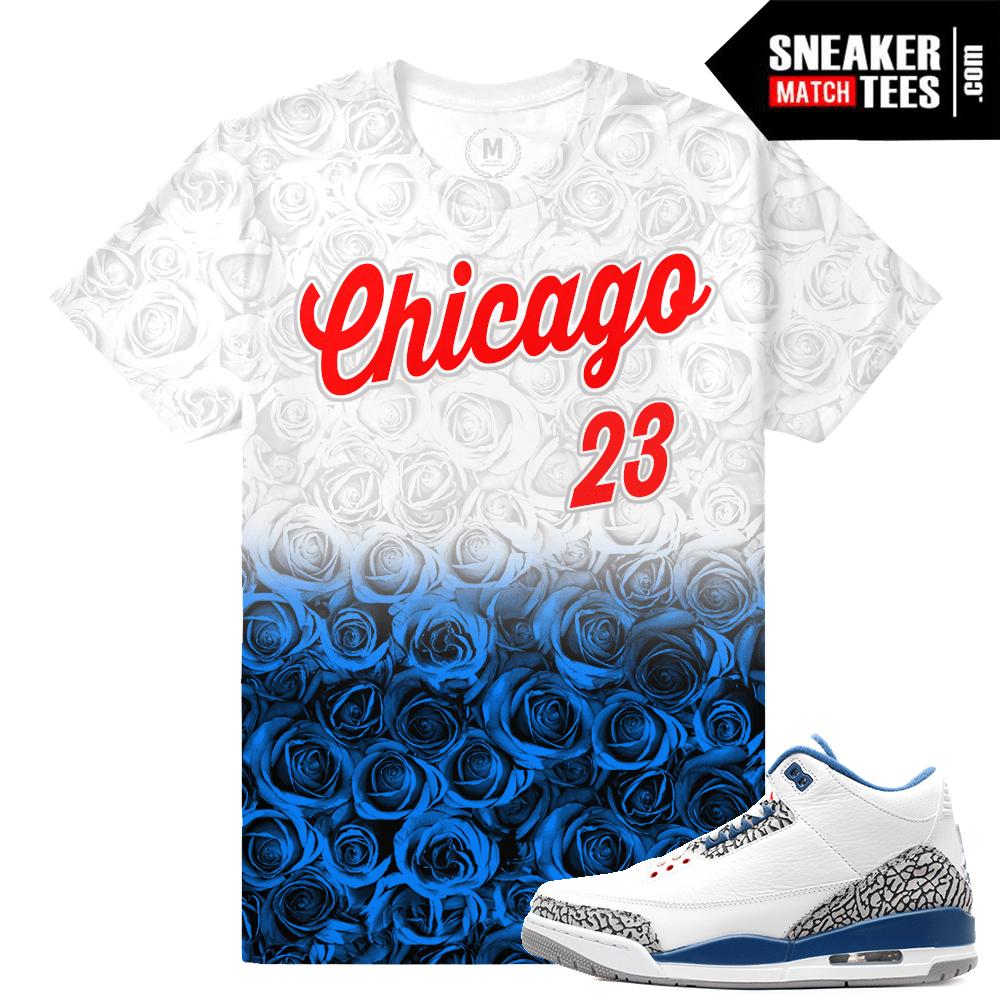 1ecbb7eeacf67e True Blue 3s Sneaker tees match
