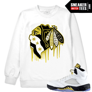 White Crewneck Match Olympic 5 Jordan Sneakers