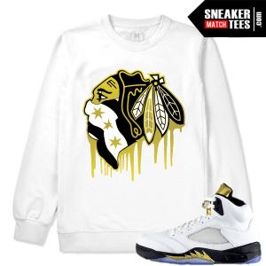 White Crewneck Match Olympic 5 Jordan Sneakers