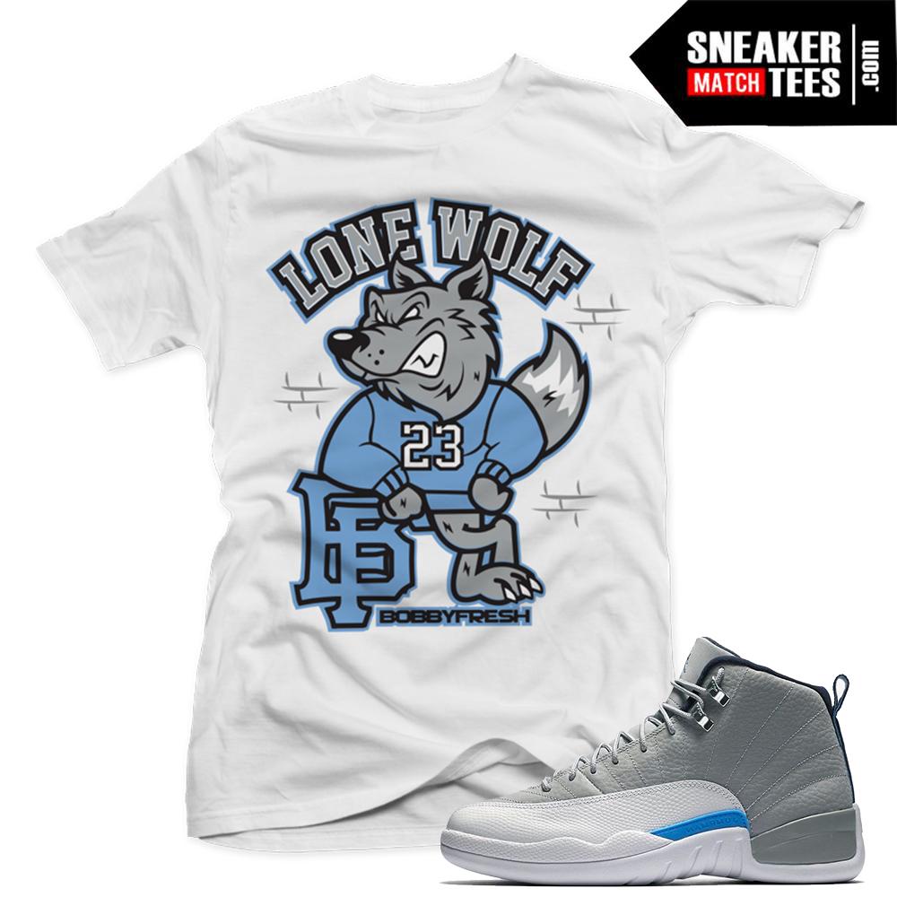a620c79e29f5cc Jordan 12 Wolf Grey T shirts Match Retro Jordan