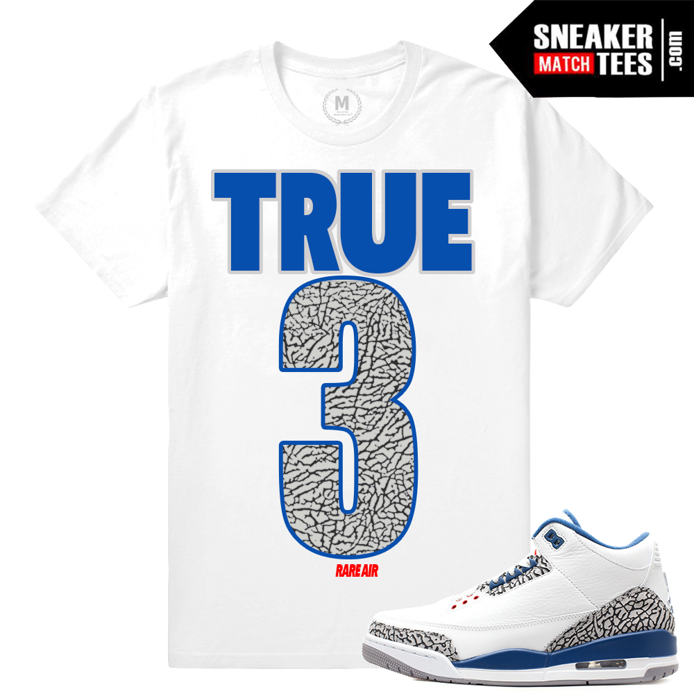 quality design 66f58 b6741 jordan 3 true blue og long sleeve tee match retro 3s