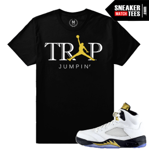 sneaker tees match Jordan 5 Olympic Retros