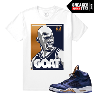 Bronze 5 Jordan T shirt Match Sneakers