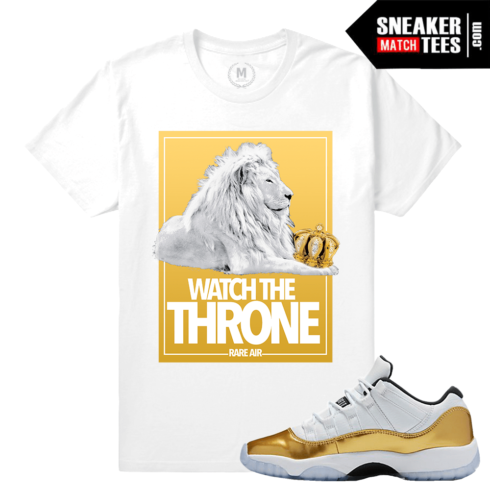 online store da7e6 18b8d Closing Ceremony 11 Jordan T shirt Match. Gold 11s
