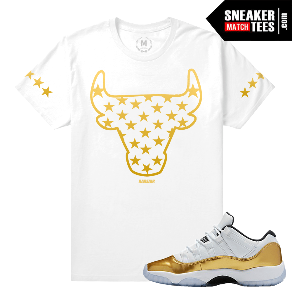 new products c115a 81fbb Closing Ceremony 11 Sneaker T Shirt Match. Gold 11s. Match Jordan 11 Low ...