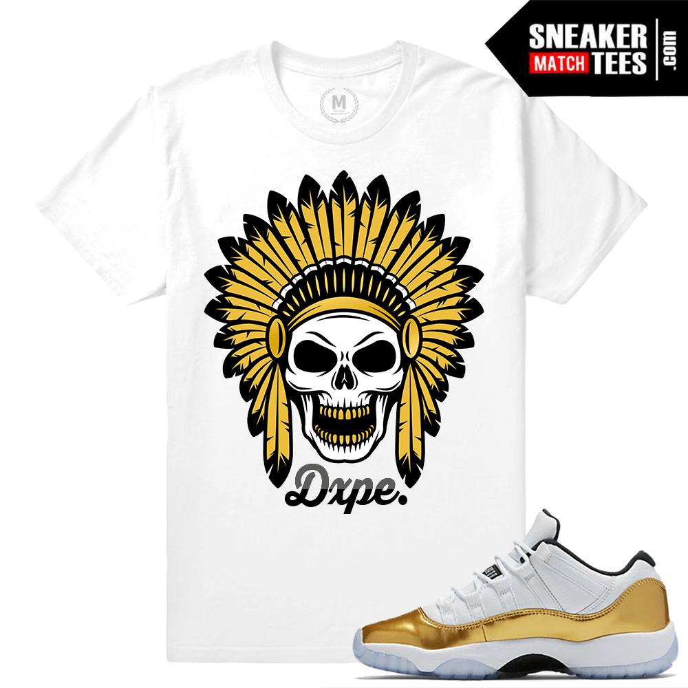 e656723f99c8c5 Gold 11s Shirts to Match Jordans- Sneakermatchtees