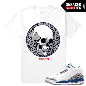 Jordan 3 True Blue Matching T shirt
