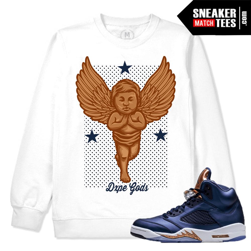 5cf7f46f044cb0 Air Jordan 5 Bronze Match Sneaker Tee