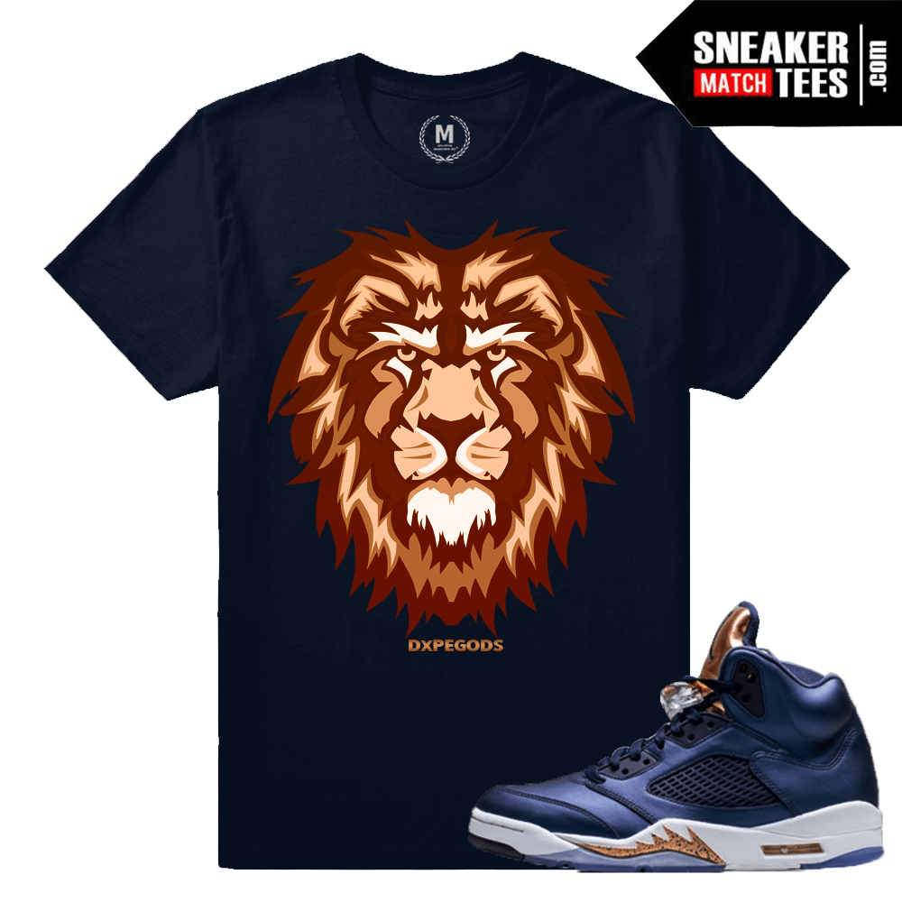 Jordan 5 Bronze Matching shirt