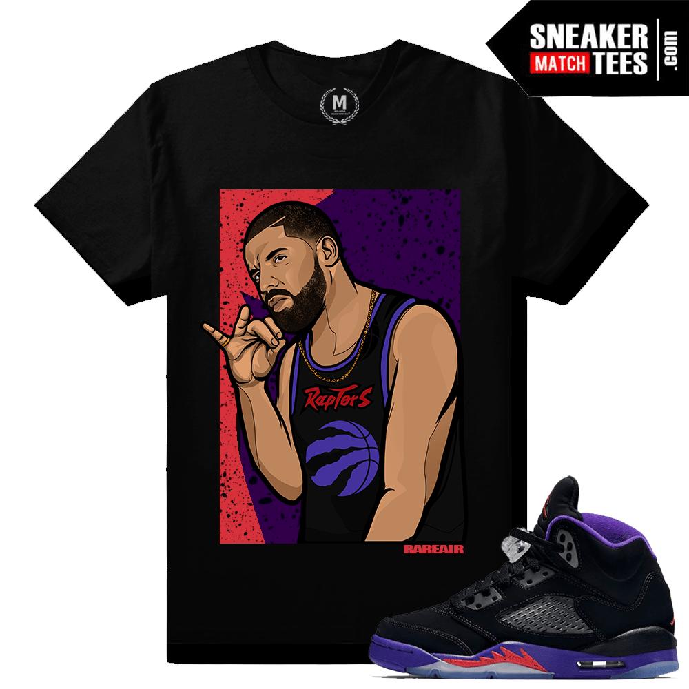 wholesale dealer fbf8d 253bf Air Jordan 5 Raptors Match Sneaker Tee | 6 God | Black T shirt