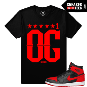 Jordan Banned 1s Match Retro T shirts