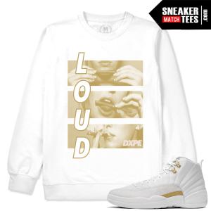 Match OVO 12 Jordan White Sweatshirt