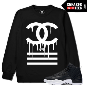 Neoprene 12 Jordan Matching Black Crewneck Sweatshirt