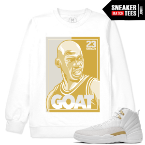 OVO 12 Match Jordan Retro White Sweatshirt