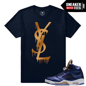 Retro Jordan 5 Bronze Matching T shirt