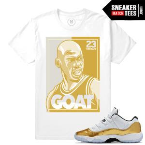 Shirt match Gold 11 lows