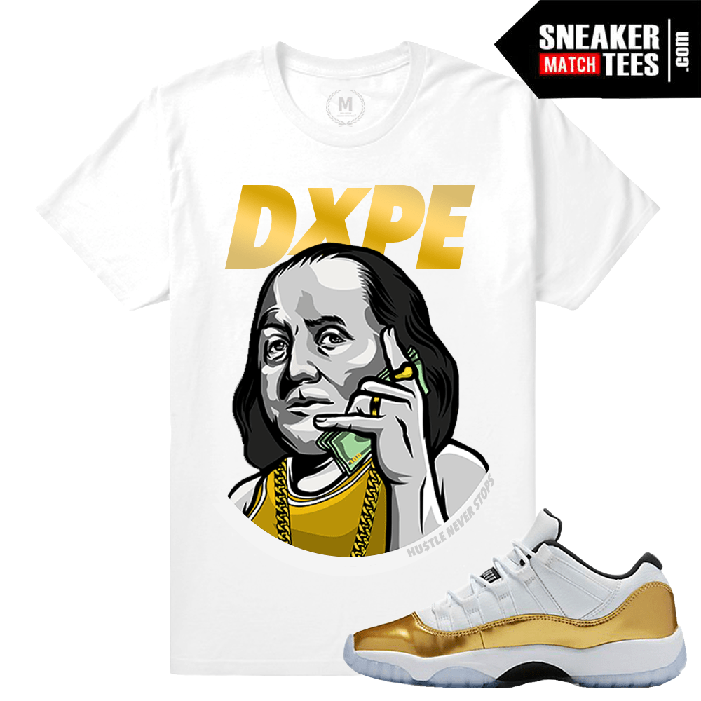 Gold 11s Shirts to Match Jordans- Sneakermatchtees 37f85204f