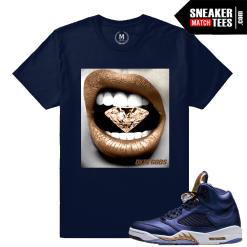 Sneaker shirt Matching Bronze 5 Jordans