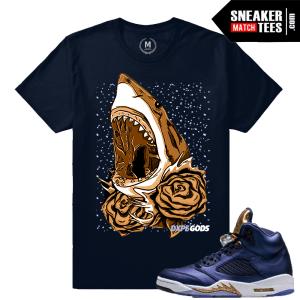 Sneaker Tee Shirt Match Jordan 5 Bronze