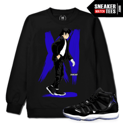 Space Jam 11 T shirt Match Sneakers