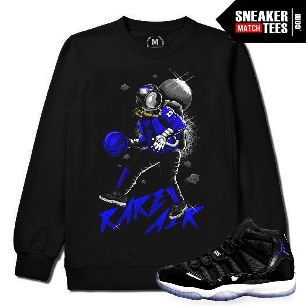 3bd1a0113cd Space Jam 11 Match Crewneck Sweatshirt | Sneaker Match Tees Shop