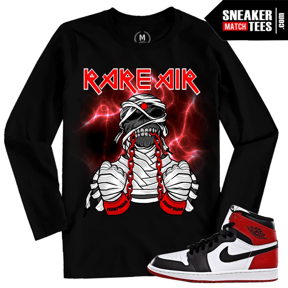 c86d6294a171 Air Jordan 1 Black Toe Long Sleeve T shirt