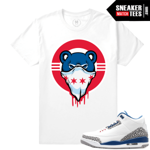 Cubs Drip Tee Match True Blue 3s