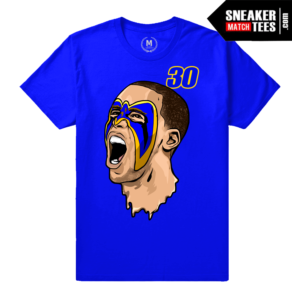 Curry Warriors T shirt Blue  d19a25f56